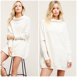 NWT Free People Ottoman Slouchy Tunic S Ivory